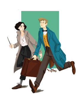 Fantastic Newt And Where To Find Tina by sofiko-chan