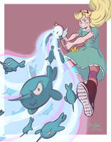 NARWHAL BLAST! by sofiko-chan