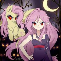 Flutterbat - Happy Belated Halloween! by Ichigochichi