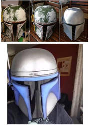 Jango Fett Helmet progress by Msyt