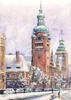 Szczecin in snow by JoaRosa