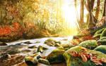 Autumn river by JoaRosa