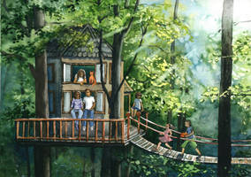 Tree house - Memories of Trees Contest Entry by JoaRosa