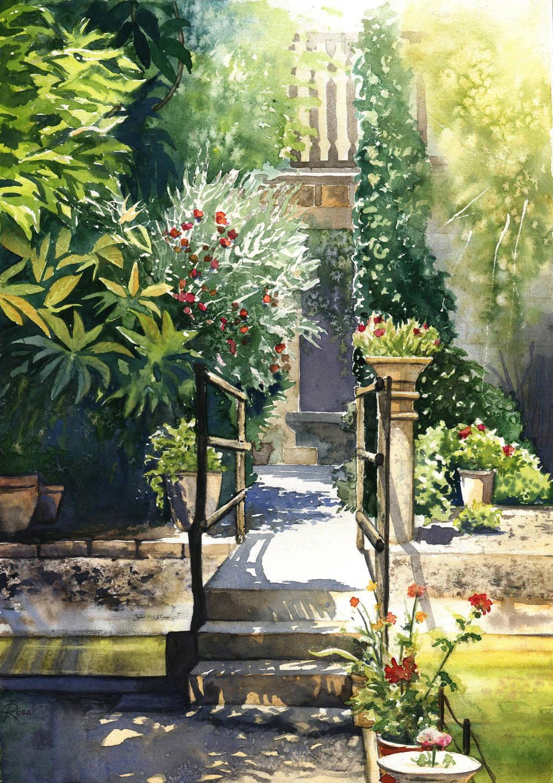 Mallorca - garden of Son Marroig Mansion by JoaRosa