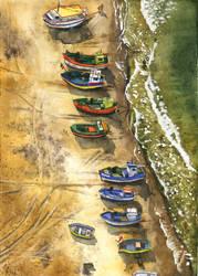 Boats on the beach by JoaRosa