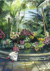 Orchid garden with Atlantic Pacific by JoaRosa