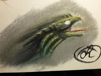 Charcoal Dragon by Dragonwysper