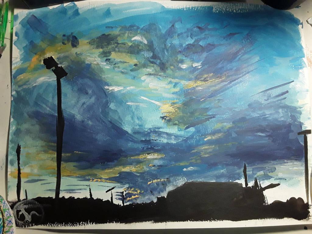 Sky Painting by Dragonwysper