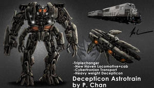 Transformers movie Astrotrain by agentdc7