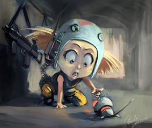 little girl by Benlo
