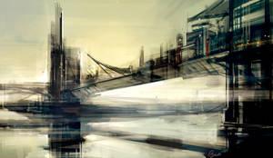 City Sketch 1 - Bridge City by Benlo