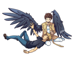Destiel - Relaxing by msloveless