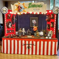 This was my booth for the Halloween shows.  by Zombienose