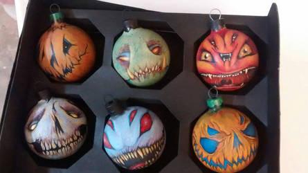 Zombienose Xmas ornaments  by Zombienose