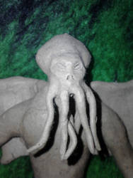 Cthulhu (clay sculpture) by TheDarkCorvus