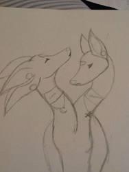 Luna and Starrina by xFatalError