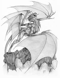 Basalt Dragon by gyrfalconthegray