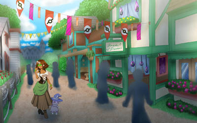 HL: B.B. and Creeper at the Renaissance Festival by nightmaresky