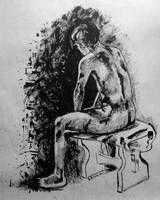 life drawing man by omppu