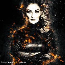 Fire woman by GerryPelser