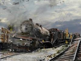 Trolley Run ~ 1945 by zulumike