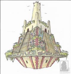 Flying Temple by erlkoenig