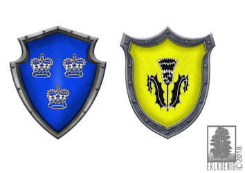 Fantasy coat of arms - The Dark Eye by erlkoenig