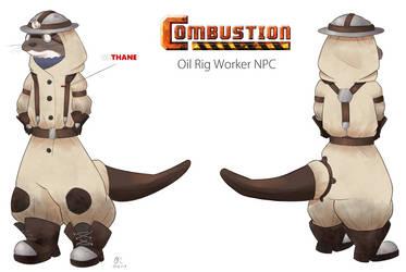 Oil Rig Worker by BlackSpotDesign