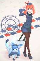 Pokemon: Flight Attendant Haruka (May) by makaroll410