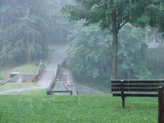 park bench by zindionne