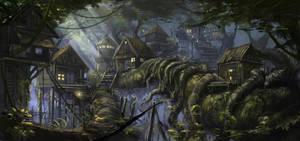 Hidden Village by SkyrisDesign