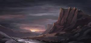 Mountain Sunset by SkyrisDesign