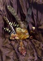 Bronze Wire Wrapped Oak-4 by MorganCrone