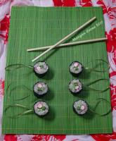 California Roll Glitter Sushi Ornaments by MorganCrone