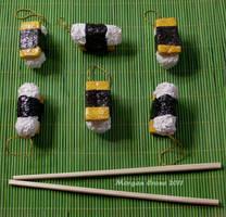 Tamago Nigiri Glitter Sushi Ornaments by MorganCrone