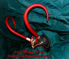 Black, Red and Silver Horned Diadem View #4 by MorganCrone