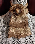 Cameo Jabot Victorian Style Lace Collar by MorganCrone