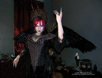 Queen of the Corvids Costume 17 by MorganCrone