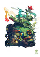 Happy Tank by RobinKeijzer