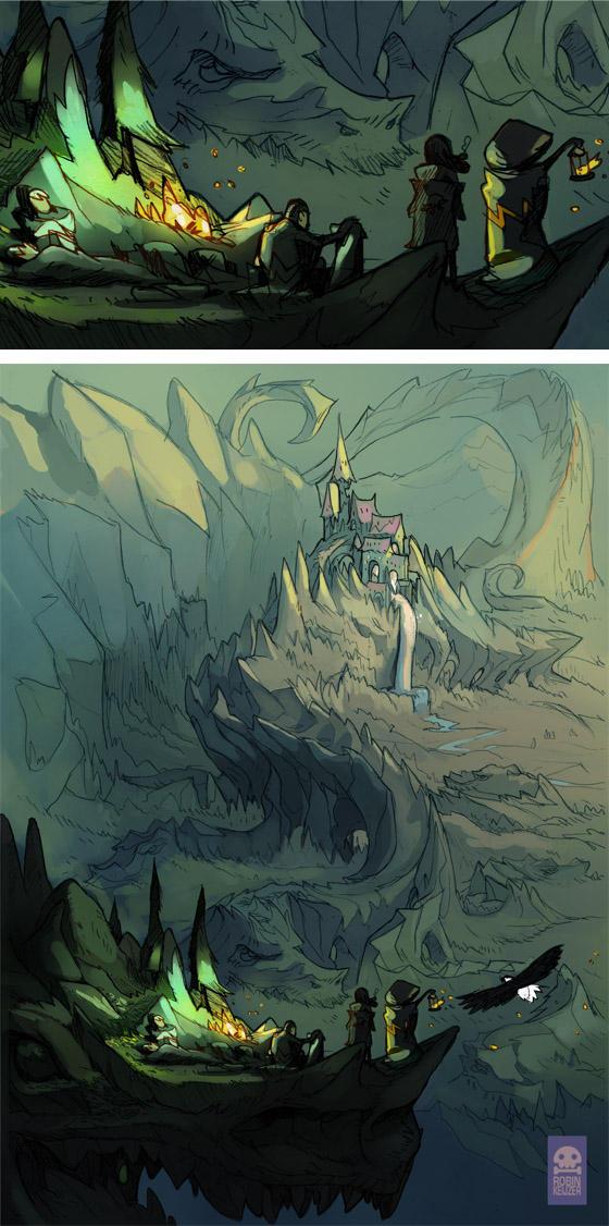 Castle Ramstone in Hydra mountains by RobinKeijzer