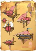 Steampunk Airships? by RobinKeijzer