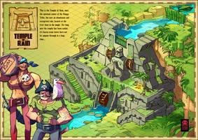 Temple Of Rain  Map by RobinKeijzer