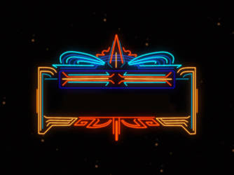 1980s Space Marquee Theatre Snipe (blank) by Nixwerld