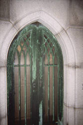 Closeup of the sinclair Mausoleum copper gates by DannySamFanMan