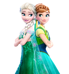 Elsa and Anna Frozen Fever - Png by Simmeh