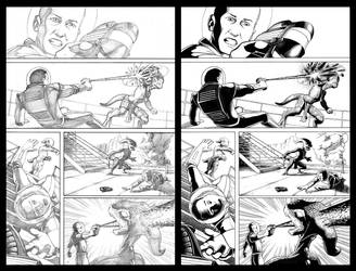 Soldier vs. Alien pg 1 - Pencils and Inks by KristofferNS