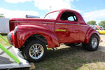 Big Red Willys Machine by PhotoDrive