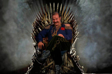 Harry Mudd on the Iron Throne by Brandtk