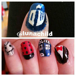 Doctor Who Nails by Luna-child