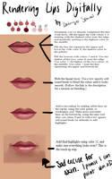 Painting Lips Tutorial by DaimyoSensei
